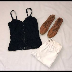 Navy Blue Lacey Tank